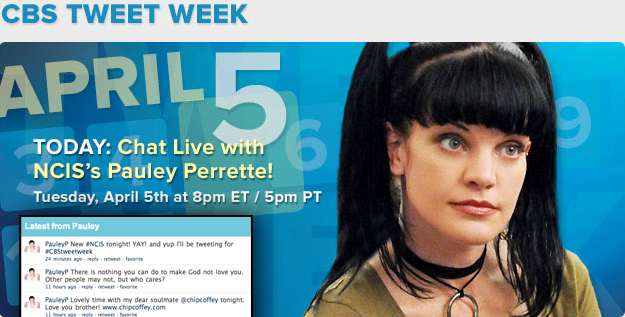 NCIS Live Chat with Pauley Perrette - CBS Tweet Week April 5th
