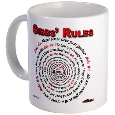 NCIS GIBBS' RULES - Coffee Mug