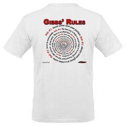 NCIS GIBBS' RULES - Organic Men's T-Shirt (F/B)-White