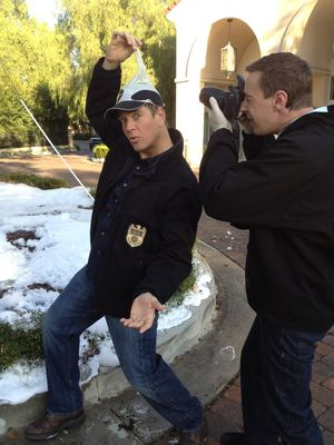 This one with @m_weatherly probably won't make the episode. #NCIS - Sean