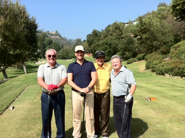 Michael Weatherly: Golfing with Robert Wagner, Mike Conners and Jim Hersh last week! Tweet crazy!