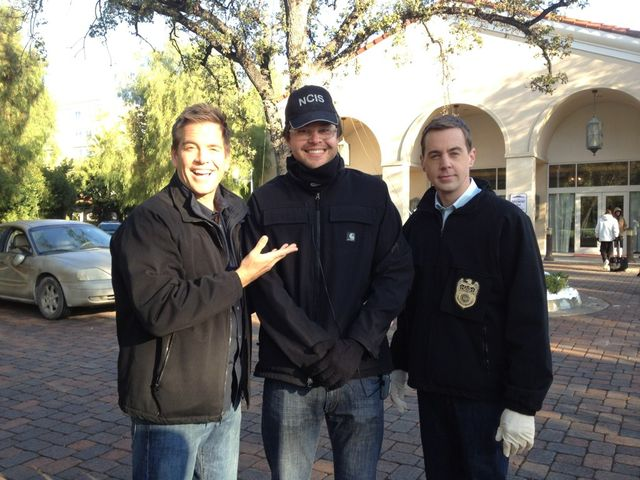 Here we are with Rainn Wilson. Oops I mean #NCIS writer extraordinaire Christopher Waild.