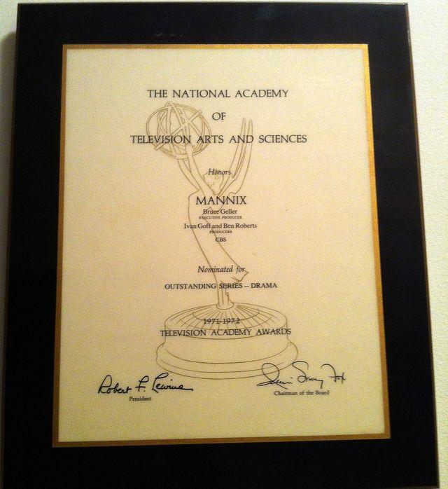 Mannix Acadamy Award Nomination