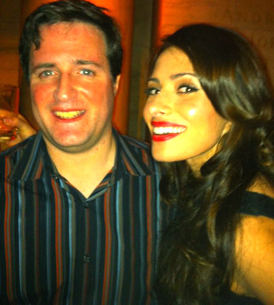 Ted with Sarah Shahi from Barely Legal