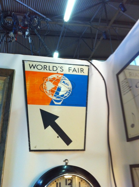 Words Fair Sign from NYC Antique Show