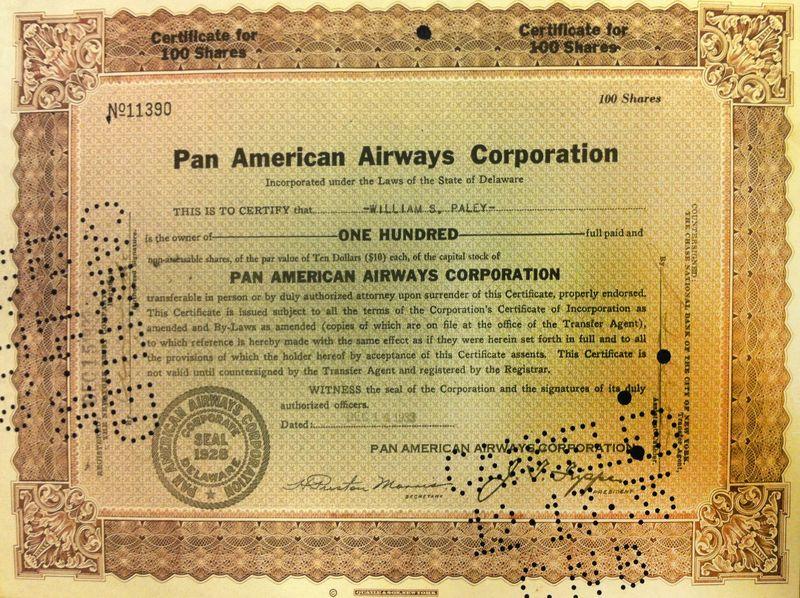 Pan American 100-Shares IMG_1002