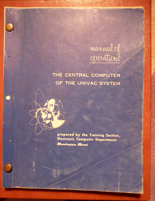 1954 UNIVAC Computer Manual of Operations