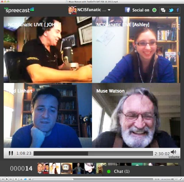 Actor @MuseWatson NCIS joins us (at 1:07:40) during Saturday's NCISfanatic LIVE with @TedOnTV https://TedOnTV.NCISfanatic.com