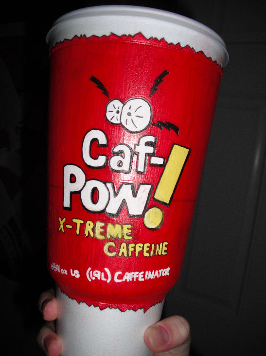 Abby's favorite drink, Caf-Pow!