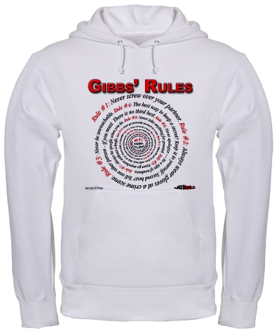 Gibbs' Rules Hooded Sweatshirt at the NCISfanatic Store