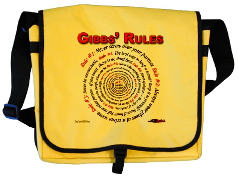 Gibbs' Rules Messenger Bag at the NCISfanatic Store