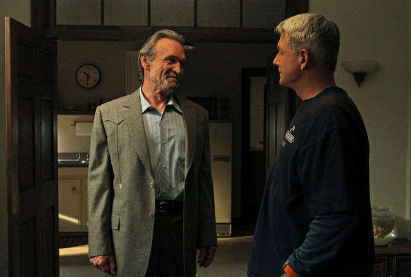 Gibbs (Mark Harmon, right with guest star Muse Watson, right) must take desperate measures to protect the ones he loves in the eighth season premiere of NCIS, Tuesday, Sept. 21 (8:00-9:00 PM, ET/PT). Photo: Sonja Flemming/CBS