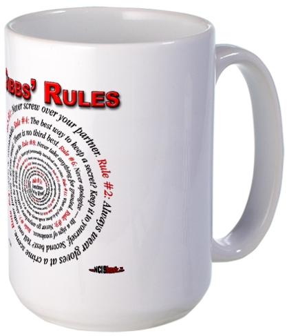 Gibbs' Rules Large Mug at the NCISfanatic Store