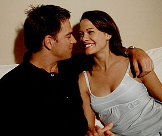 Anthony DiNozzo with Jeanne Benoit (Scottie Thompson)