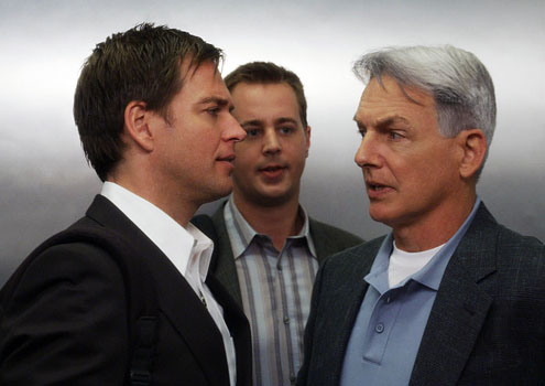 Anthony DiNozzo with McGee and Gibbs
