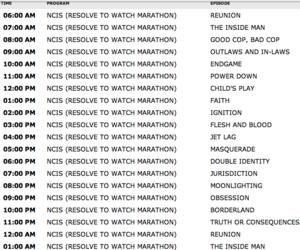 NCIS Resolve To Watch Marathon on USA Network (Schedule)