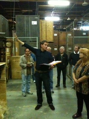 "Michael Weatherly, behind the scenes, directing NCIS ""One Last Score."""