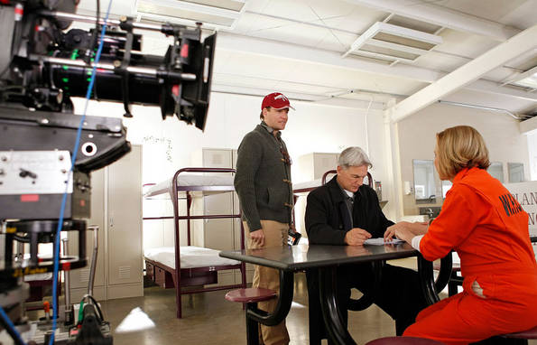 NCIS discovers that one of its former investigative assistants found brutally stabbed to death was selling details for how to rob a warehouse full of valuable possessions belonging to a woman convicted of fraud. Meanwhile, a new special agent joins the office, on NCIS. Episode directed by series star Michael Weatherly (left). Also pictured Mark Harmon and Jobeth Williams. Photo: Cliff Lipson/CBS