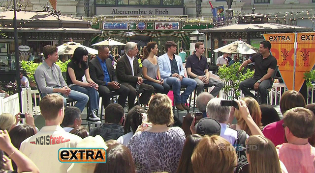 Cast of 'NCIS' With 'Extra' At 'The Grove' — April 16, 2011