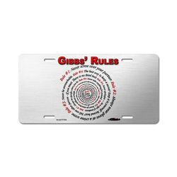 NCIS GIBBS' RULES - Aluminum License Plate #1