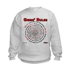 NCIS GIBBS' RULES - Kids Sweatshirt