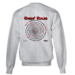 NCIS GIBBS' RULES - Sweatshirt (Front/Back)