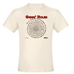 NCIS GIBBS' RULES - Organic Men's Fitted T-Shirt-Natural