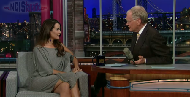 NCIS' Cote de Pablo on Late Show with David Letterman