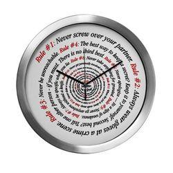 NCIS GIBBS' RULES - Modern Wall Clock