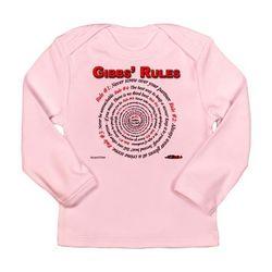 NCIS GIBBS' RULES - Long Sleeve Infant T-Shirt