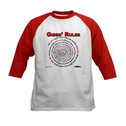 NCIS GIBBS' RULES - Kids Baseball Jersey