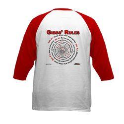 NCIS GIBBS' RULES - Kids Baseball Jersey (F/B)