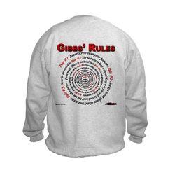 NCIS GIBBS' RULES - Kids Sweatshirt (Front/Back)