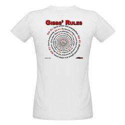 NCIS GIBBS' RULES - Organic Women's T-Shirt (F/B)-White