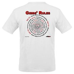 NCIS GIBBS' RULES - Organic Men's T-Shirt (F/B)-White