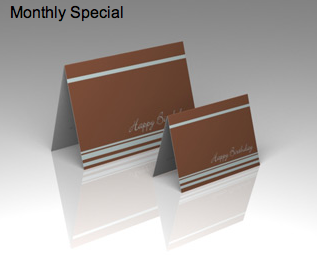 December's special is 15% off select 4-color offset Greeting Cards!