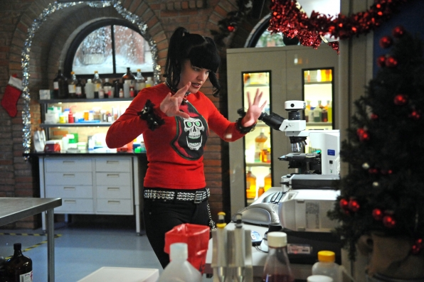 When a Navy captain is killed in a hotel room, Abby Sciuto (Pauley Perrette) and the NCIS team must track down and protect his very pregnant companion from unknown assailant. Photo: Ron P. Jaffe/CBS © 2011 CBS Broadcasting, Inc. All Rights Reserved.