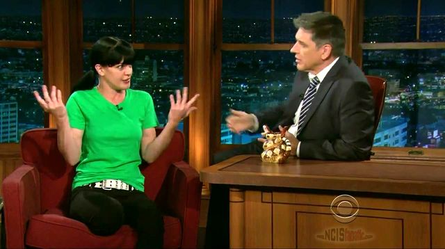 "Pauley Perrette on ""Late Late Show"" with Craig Ferguson 5/04/11"