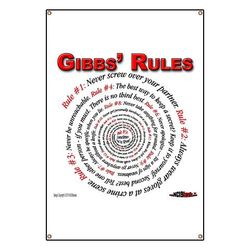 NCIS GIBBS' RULES - 42 x 28 inch Banner