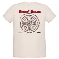 NCIS GIBBS' RULES - Organic Kids T-Shirt (F/B)