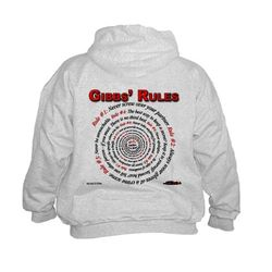 NCIS GIBBS' RULES - Kids Hoodie (Front/Back)