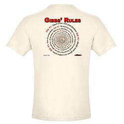 NCIS GIBBS' RULES - Organic Men's Fitted Tee (F/B)-Natural