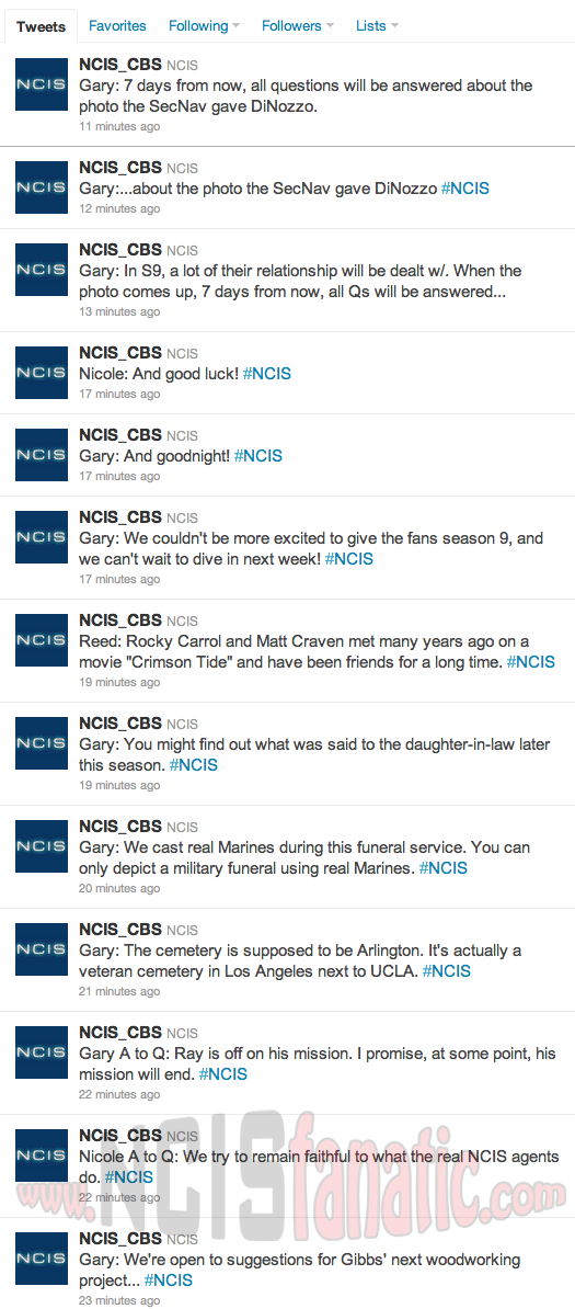 CBS Live Chat with NCIS Executive Producer Gary Glasberg