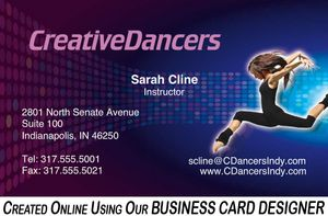 Creative Dancers Business Card Designer SAMPLE