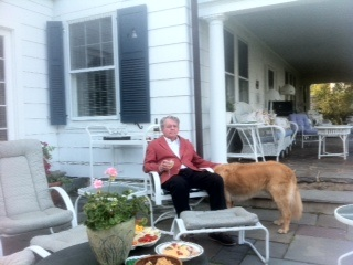 Michael Weatherly: My Dad, his white wine, and dog Cooper...