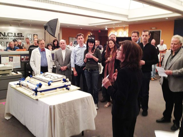 200th Episode Celebration — On the set of NCIS which celebrated its 200th episode today with a cake cutting ceremony!
