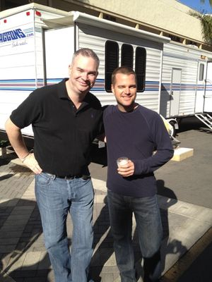 Darragh O'Dea on NCIS:LA Set with Chris O'Donnell