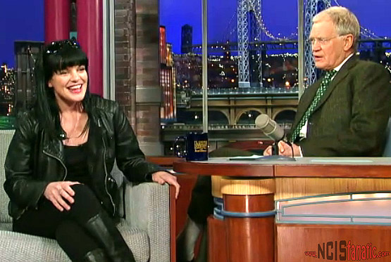 NCIS' Pauley Perrette Talks Twitter With David Letterman 2/28/1012