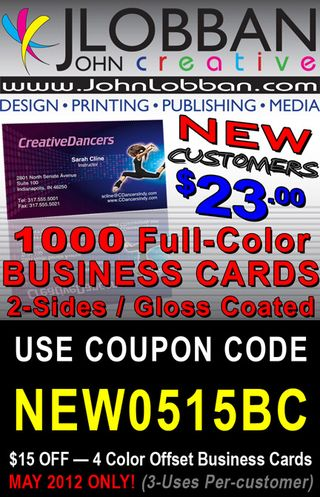 Order Business Cards at www.JohnLobban.com