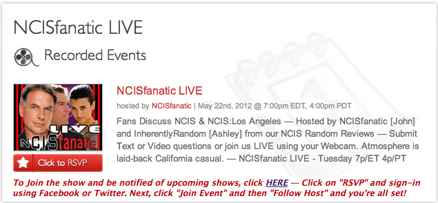 NCISfanatic LIVE: NCIS & NCIS:LA Talk with John & Ashley
